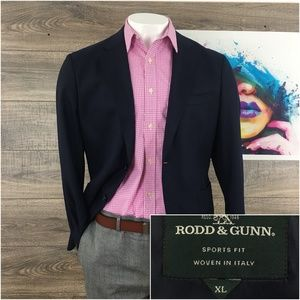 Mens Blazer Sport Coat Jacket Rood & Gunn Wool